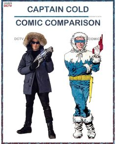 """356 Likes, 4 Comments - • Accurate.DCTV • dctv fanpage (@accurate.dctv) on Instagram: """"• Captain Cold - Comic Comparison • Captain Cold is one of my favorite reoccurring villains each…"""""""