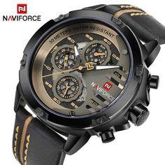 5e2da0f693e NAVIFORCE Mens Relógios Top Marca de Luxo À Prova D  Água 24 horas Data  Relógio