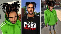 Sims 4 Cas Mods, Hair Science, Stitch Braids, Sims Hair, Dread Hairstyles, Head Accessories, Dreads, Guys, Female