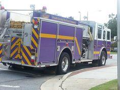 Go Pirates! Purple fire truck? Where else but G-Vegas!- Greenville, NC