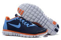2014 Nike Free 3.0 V2 Mens Darkblue Blue Orange