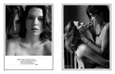 Léa Seydoux & Adèle Exarchopoulos by Mikael Jansson for Interview November 2013
