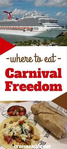 #Carnival #cruise #food #restaurant #eat #eating #vacation #carnivalfreedom…                                                                                                                                                                                 More