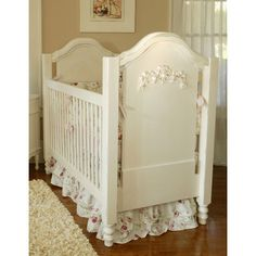 Girl Nursery Decorating Ideas - Inspired By...   Wayfair love the tiered bed ruffle!