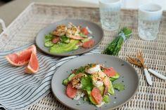 Grapefruit, Fennel and Grilled Shrimp Salad