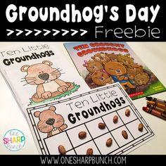Groundhog's Day: Ten Grouchy Groundhogs Freebie