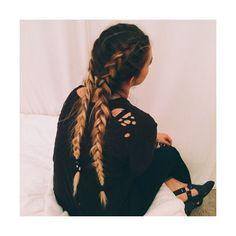 french braids | Hair&Makeup | Pinterest ❤ liked on Polyvore featuring beauty products, haircare and hair