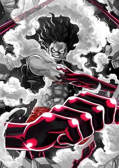 Gear Fourth! Zoro One Piece, One Piece Ace, One Piece Fanart, Luffy Gear Fourth, Luffy Gear 4, One Piece Images, One Piece Pictures, Anime One, Manga Anime