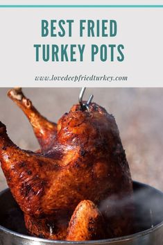 Check out our Top 10 Turkey Fryer Pots, both stainless steel and aluminum for help in choosing the best one for your needs, and budget. The best turkey frying pots are large, light in weight and super durable. Get your deep fried turkey on this Thanksgiving or Christmas! #turkey #pot #pots #deepfried #deepfrying #cooking #kitchen #home #food #backyard #oil #outdoor #outdoorcooking #tailgate #tailgating