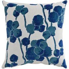 A blue floral printed cushion by Rapee Soft Furnishings, Duvet, Bedding, Indigo, Floral Prints, Cushions, Throw Pillows, Home, Down Comforter