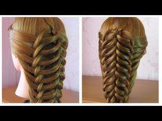 Cute hairstyle for long hair tutorial. Hairstyles For School, Braided Hairstyles, Braid Crown Tutorial, Medieval Hairstyles, Hair Today Gone Tomorrow, Hair Due, Hair Videos, Hair Designs, Hair Makeup
