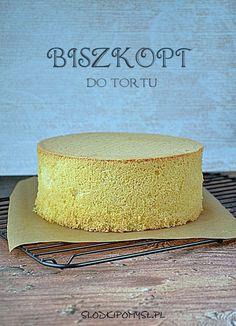 BISZKOPT • SŁODKI POMYSŁ Polish Cake Recipe, Baking Basics, Food Cakes, Holiday Baking, Cake Recipes, Bakery, Coconut, Cooking Recipes, Desserts