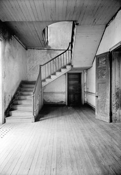 Chretien Point Plantation Mansion, Sunset Louisiana February 27, 1940 HALL AND STAIRS, FIRST FLOOR
