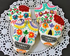 My newest and best Dia de Los Muertis cookies