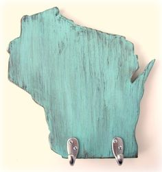 Wisconsin Wall Hook: A little piece of my home state.