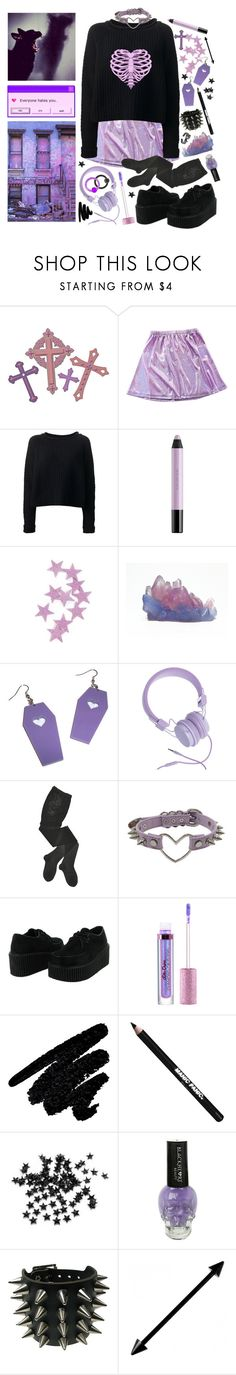 """1540"" by anastaziah2014 ❤ liked on Polyvore featuring JONOFUI, shu uemura, Urbanears, HYD, INDIE HAIR, Lime Crime, Too Faced Cosmetics, Manic Panic NYC, INC International Concepts and Hot Topic"