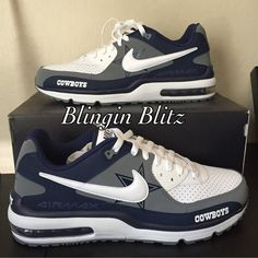 Dallas Cowboys Nike AirMax by BlinginBlitz on Etsy