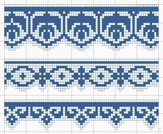 Edouard Boucherit - Grand album de modeles pour Filet №3 1908 (details) Cross Stitch Tree, Beaded Cross Stitch, Cross Stitch Borders, Cross Stitching, Cross Stitch Embroidery, Cross Stitch Patterns, Filet Crochet Charts, Crochet Diagram, Knitting Charts