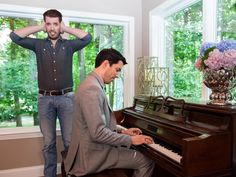 The Scott brothers brought the couple's upright piano into the room to make the space even more personal and inviting. Although Drew doesn't seem to find Jonathon's tune quite as inviting as the great room decor.