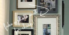 Easy, Quick, Cheap, (Fake) Photo Mats  | Homesessive.com