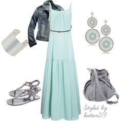 Turquoise Yuna Belted Maxi Dress, created by button519