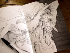 Samhain is coming… #sketchbook #sketch #fantasy #faery #witch #witches #samhain #illustration #artoninstagram #Coliandre #XavierCollette #Facebook http://ift.tt/2eFIf5F