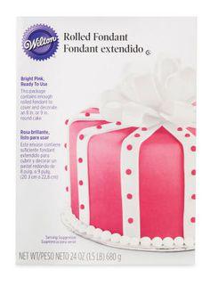 Bright Pink Rolled Fondant- 24oz.
