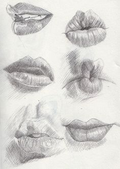 Delineate Your Lips examples of lips - March by ~Khantinka on deviantART - How to draw lips correctly? The first thing to keep in mind is the shape of your lips: if they are thin or thick and if you have the M (or heart) pronounced or barely suggested. Drawing Sketches, Pencil Drawings, Art Drawings, Drawing Faces, Drawing Ideas, Sketching, Pencil Art, Sexy Drawings, Drawings Of Lips