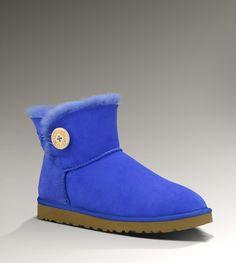 UGG Mini Bailey Button Women's Sapphire Blue Boots