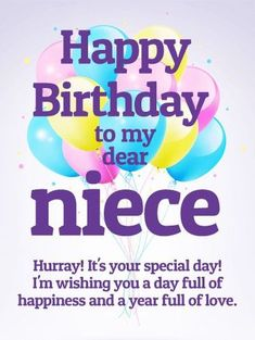 Best Happy Birthday Niece Quotes and Images Happy Birthday Niece Wishes, Birthday Cards For Niece, Birthday Wishes For Myself, Birthday Wishes Quotes, Happy Birthday Messages, Happy Birthday Images, Happy Birthday Greetings, Birthday Blessings, Card Birthday
