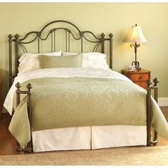 Marlow Open Toe Return Post Iron Bed by Wesley Allen - Aged Bronze Finish