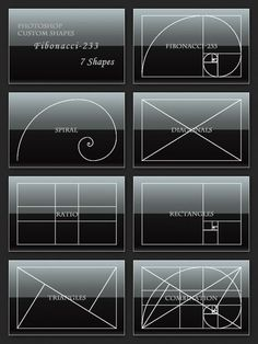 Describing the concept of 'golden' sectioning in composition. Differentiates the golden ratio and Fibonacci. This could be applied to all art and even art for choosing the. Photography Cheat Sheets, Photography Basics, Photography Lessons, Photography Tutorials, Art Photography, Photography Degree, Photography Sketchbook, Photography Business, Night Photography