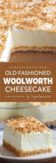 No Bake Woolworth Cheesecake is a classic, light and lemony dessert and will be the perfect addition to your Easter or Mother's Day menu! Easter dessert No Bake Classic Woolworth Cheesecake - Sugar Apron No Bake Desserts, Easy Desserts, Delicious Desserts, Dessert Recipes, Yummy Food, Light Summer Desserts, Desserts Menu, Easter Recipes, Easter Ideas