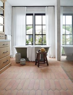 34 Popular Interior Design Trends 2020 You Have To Try - Are you in the process of redesigning your home? Do you want to find unique pieces to make your room decorating complete? Terracotta Floor, Bathroom Trends, Bathroom Ideas, Design Bathroom, Bathroom Goals, Bath Ideas, Bathroom Interior, Amber Interiors, Modern Interiors
