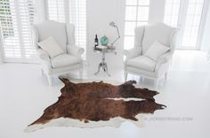 Jersey Road - Brindle with White Back Cowhide Rug, $329.00 (http://www.jerseyroad.com/brindle-with-white-back-cowhide-rug/)