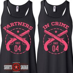Best Friends Shirt Tanks Tank Tops Partners In by ShirtsBySarah