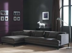 purple and gray? and I do like the couch...