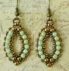 Linda's Crafty Inspirations: Esmeralda Earrings Variation