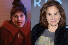 What Actors From Your Favorite Childhood Movies Look Like Now - Hocus Pocus - Mary Sanderson-Kathy Najimy Actors Then And Now, Then And Now Photos, Celebrities Then And Now, Childhood Movies, My Childhood, Kathy Najimy, Mary Sanderson, Halloween Movies, Movie Stars