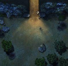 maps map night roll20 tomb rpg dungeon hero339 outside forest deviantart battlemaps dark fantasy cairn area dell hidden whispering maker