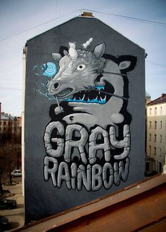 • ARTIST . KIWIE •  ◦ Gray Rainbow ◦ location: Riga, Latvia