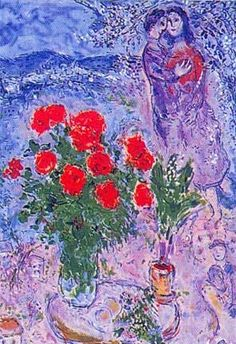 The Lovers Roses - Marc Chagall (1887-1985)