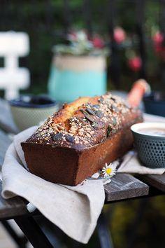 Dorian cuisine.com Mais pourquoi est-ce que je vous raconte ça... : Mon cake miel citron pavot à l'huile de coco... pa...