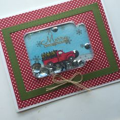 Jillibean Soup Shape Shakers Holiday Stamps -  Merry Christmas card