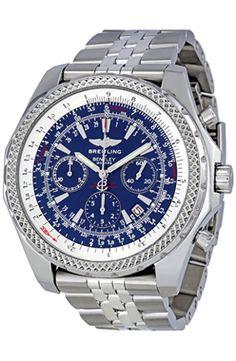 Azul Acero Breitling Bentley Cronografo Acero Dial A2536212 C618SS