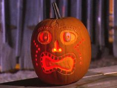 Halloween Pumpkin Carving: Tiki Jack O' Lantern from DIYnetwork.com - Different Designs and instructions...