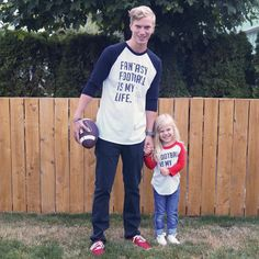 Football Is My Life Father and Daughter //SandiLake Clothing//