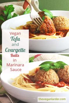 Delicious 'meaty' balls made with tofu Easy Vegan Dinner, Vegan Dinner Recipes, Delicious Vegan Recipes, Vegan Dinners, Veggie Recipes, Vegetarian Recipes, Tasty, Tofu Sauce, Vegan Meatballs