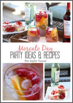 Two delicious National Moscato Day Recipe Ideas!