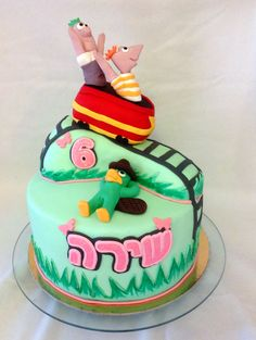 Fineas and ferb cake